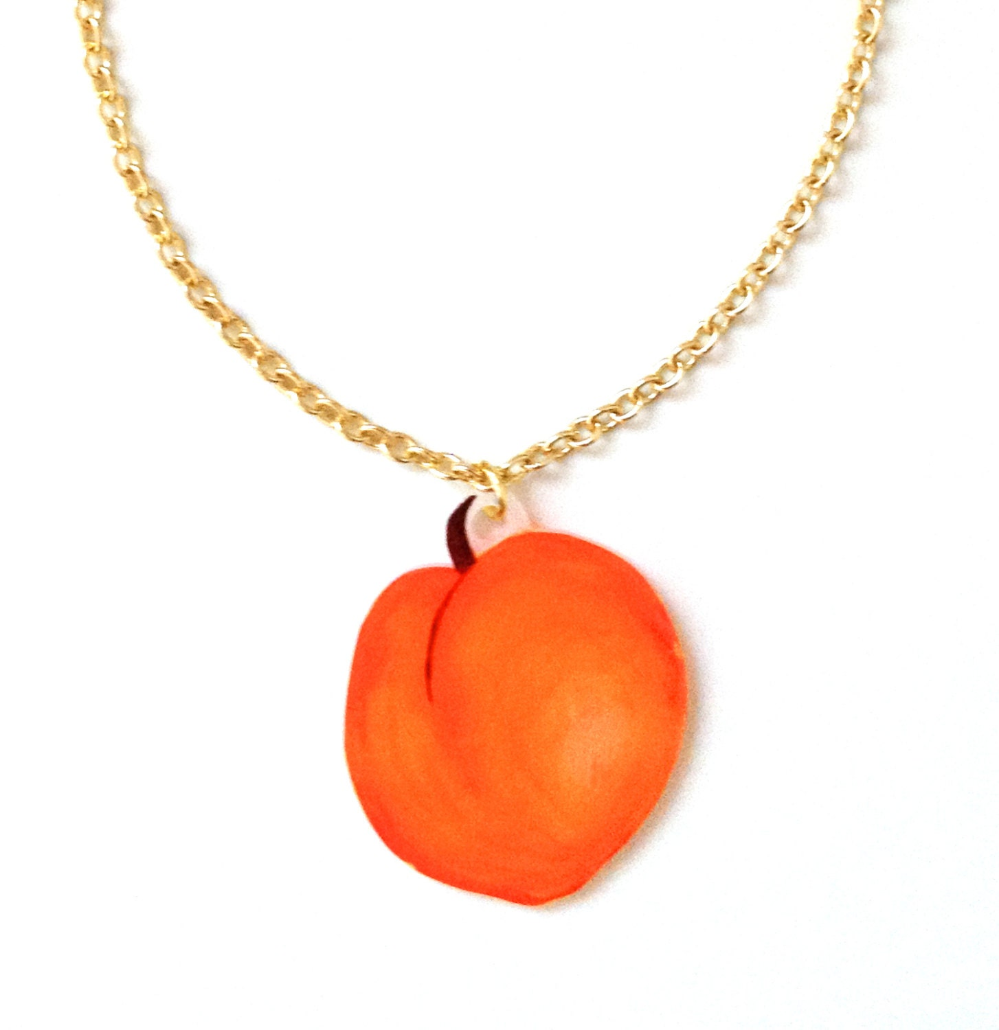 fruit jewelry fruit necklace pendant orange tree 1738
