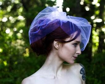 Two Layer Veil, Birdcage Veil, Blusher Veil, Wedding Veil, Two Tier Veil, Bridal Illusion Veil, Cage Veil, White Veil,  Short Veil