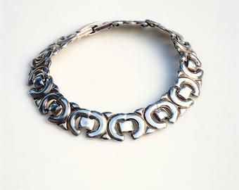 Vintage Silver X Link Bracelet