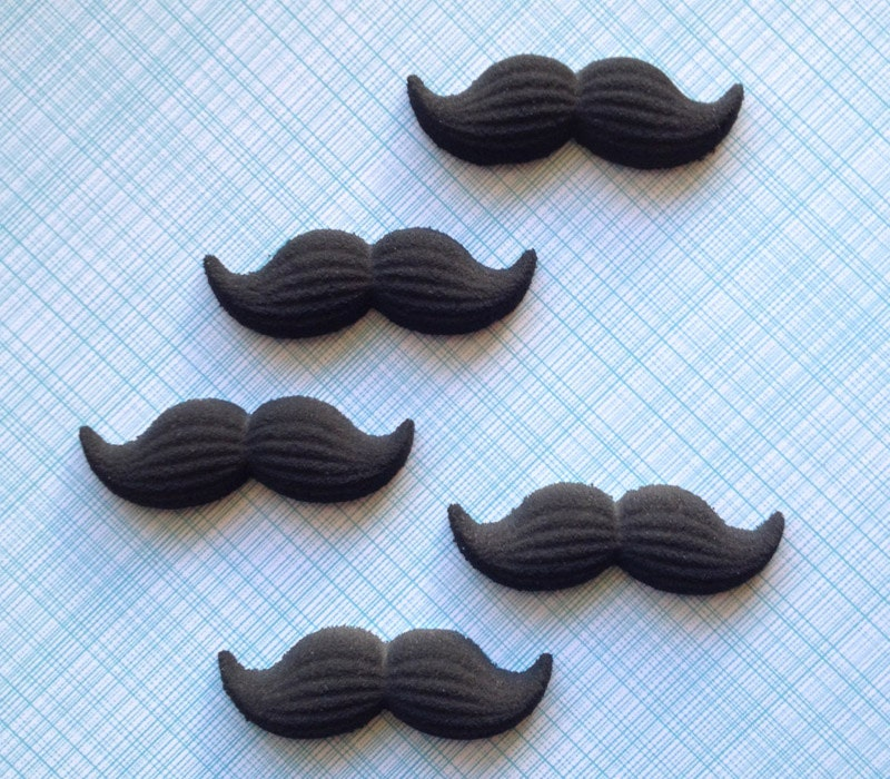Edible Mustache Cake Decorations
