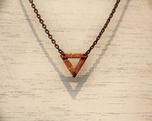 Tiny Copper Triangle Necklace