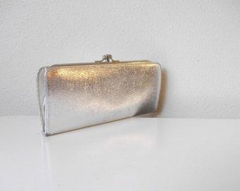 Silver Foil Lame 60s Wallet