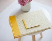 Heirloom Wedding Album and CD case Flower rain yellow pink, sunny Wedding Photo Album