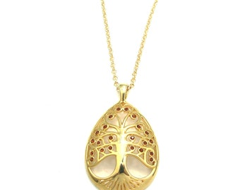 Tree Of Life Long Chain Pendant