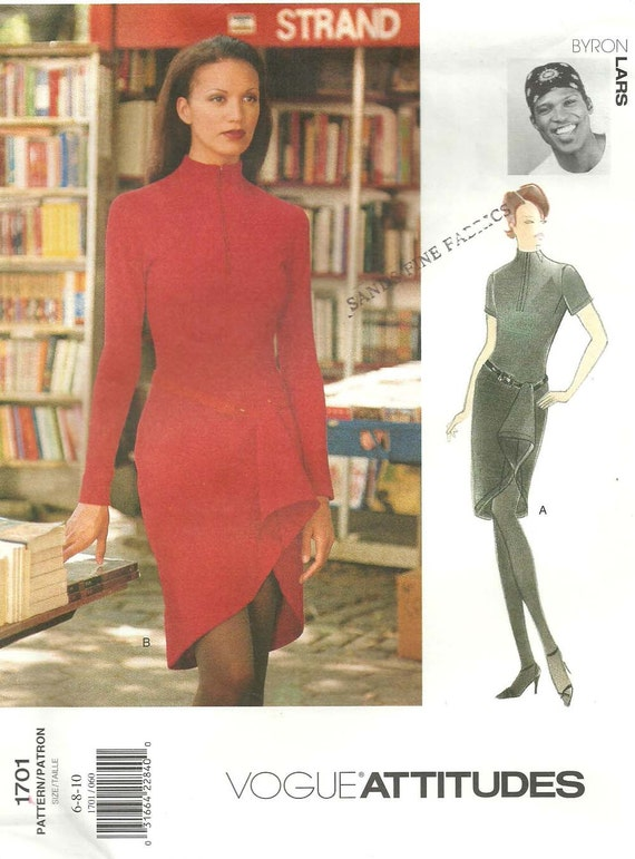 1990s Byron Lars dress pattern - Vogue 1701