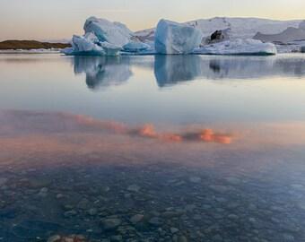 Glacial Lagoon, 8x12 Fine Art Photograph (Z0195)