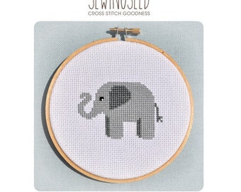 Elephant Cross Stitch Pattern Instant Download