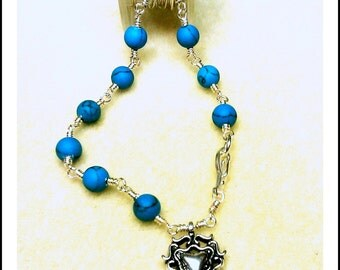 Fun Turquoise color  Bracelet Made to Order