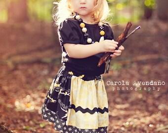 Girl's Skirt Pattern, Easy Skirt Pattern, Baby Skirt Pattern, Apron SKIRT sewing tutorial, Girls Sewing Pattern, Matilda Jane Pattern, 6m-8
