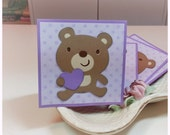 Adorable Baby Bear gives a Heart- Mini cards Thank you Cards Cutomer Thank You Cards( Set of 4)