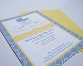 Vintage French Baby Shower Invitations