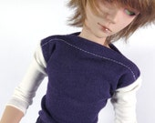 Cream and Purple Shirt for MSD SD+ Ball Jointed Doll