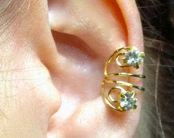 Sparkle Ear Cuff Wrap Pierceless Clip-on Earring