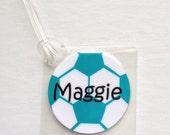 Soccer Team Gift Soccer Mom Gift Soccer Party Favor Personalized Soccer Name Tag Soccer Backpack Tag Personalized Soccer Ball Tag Soccer