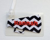 Black And White Cheveron Bag Tag Chevron Cheer Bag Tag Cheer Bag Tag Cheerleading Party Favor Chevron Cheer Tag Cheerleader Tag Chevron Tag