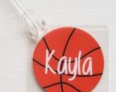Basketball Bag Tag Basketball Mom Gift Basketball Coach Gift Girls Basketball Gift Basketball Party Favor Basketball Team Gift Kids Bag Tag
