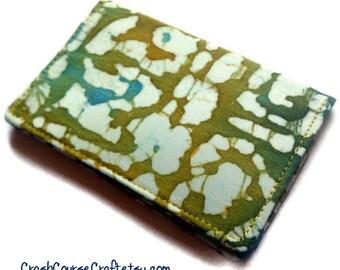 Credit Card Holder, Card Wallet, Business Card Holder - Batik Seafoam Green and Blue Ocean