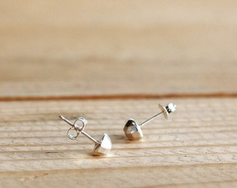 Tiny Faceted Stud Earrings