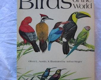 vintage book - BIRDS of the World, full color, circa 1983