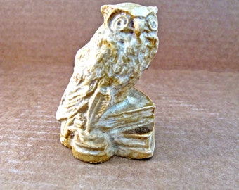 CLEARANCE Vintage Owl Carved Soapstone
