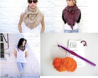 Top 3 Knitted Neckwear Patterns - All 3 For One Low Price PLUS a Free Gift
