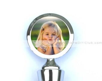 Grandma gift, Christmas gift for grandparents, gift for family, Custom Wine Stopper Custom Photo Custom Logo
