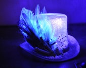 Sale Use PromoCode for Discount Sparkling Purple Pastel Mini Top Hat