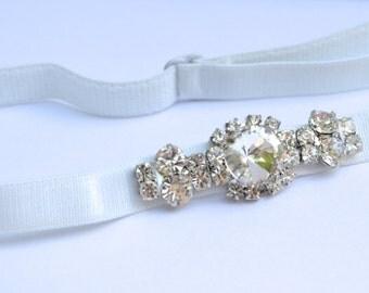 Flower Girl Headband, Rhinestone Flower Headband, Diamante Hairband, Sparkly Bridal Headband, Bridesmaid Headband