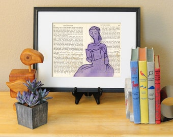 Jo March of Little Women LitKids Print