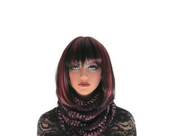 Infinity Scarf, Mens Cowl, Berries, Womens, Purple, Lavender Neckwarmer, Winter Accessories, Winter Fashion, Pink, Crochet, Circle, Snood