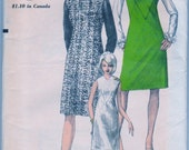 Vogue 6887 1960s Vintage Jumper Dress Sewing Pattern