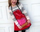 Kids Art Apron Little Girls Craft Apron Art Smock Laminated Cotton Wipe Clean