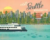 Seattle Market Print