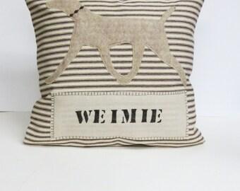 Weimaraner Dog Pillow, Weimaraner Decorative Pillow, Pillow of My Dog, Pet Pillow, Decorative Throw Pillow, Stripe Dog Pillow, Home Decor