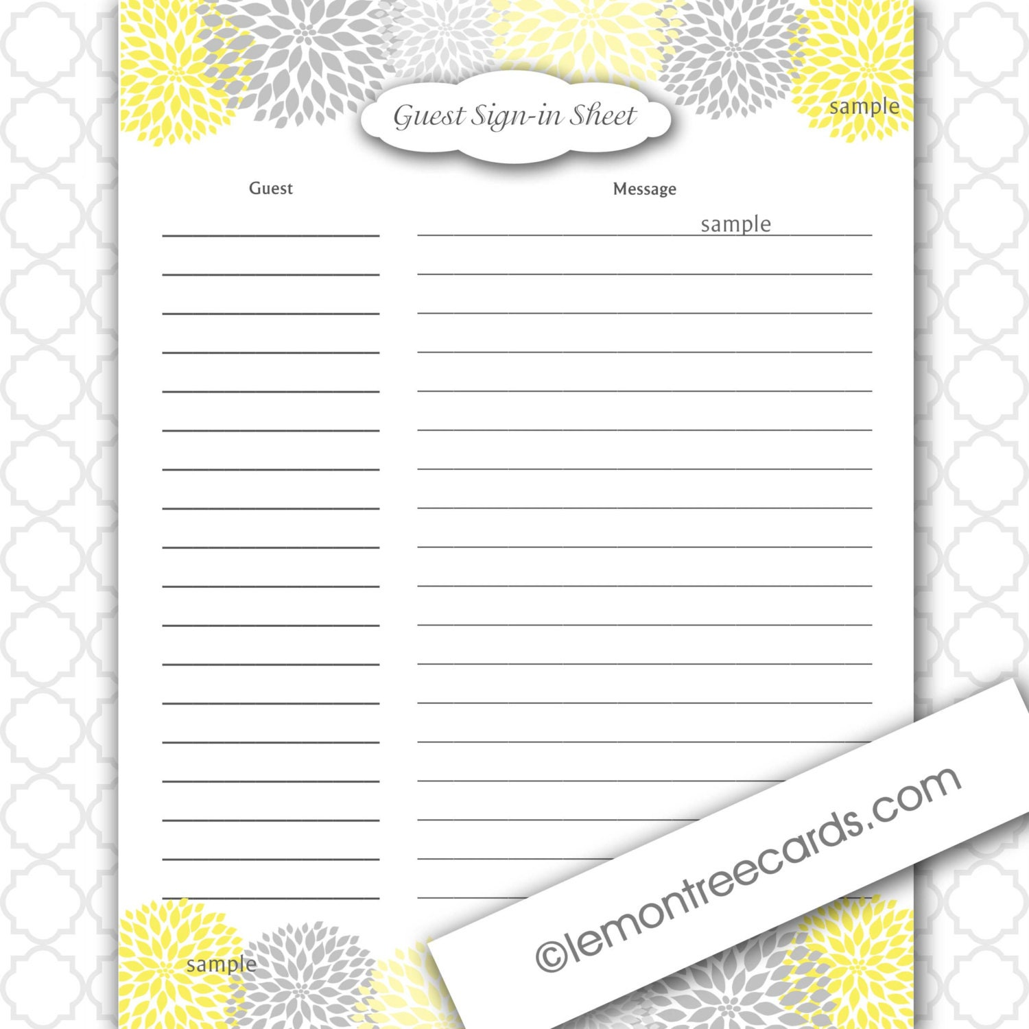 ... Free Guest List Template Doc Free Sign In Templates Printable U2013  Printable Sign In Sheet ...