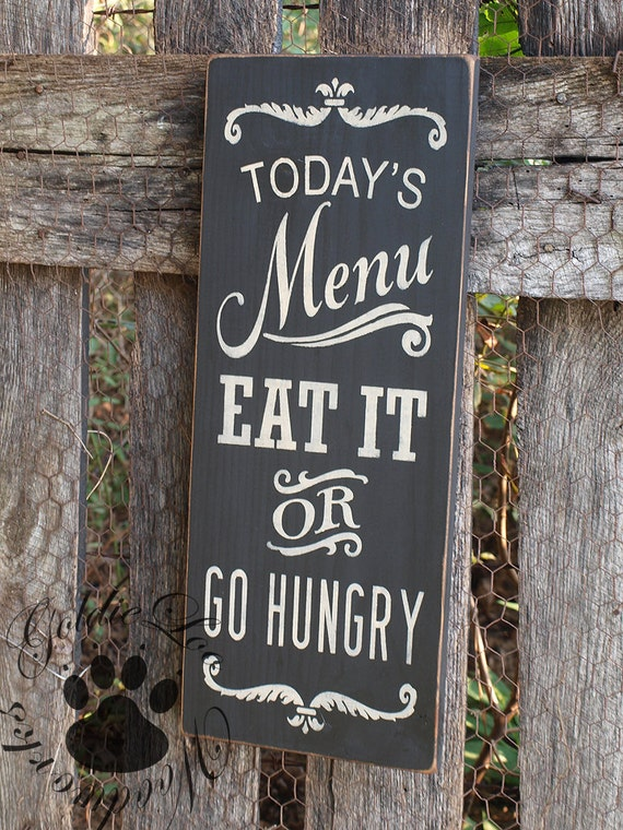 Todays Menu Chalkboard Art Word Arttypography Pine Wall Etsy