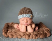 Newborn Boy's Beanies, Adorable Photography Prop, Choose Your Color