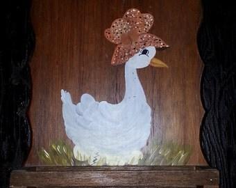 Lovely Vintage Wooden Duck Kitchen Spice Rack