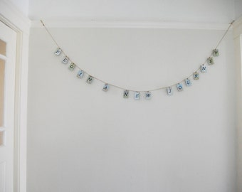Begin a New Journey - Upcycled Map Wooden Banner - Wedding Engagement Party Decoration
