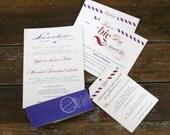 Modern Vintage Airmail Wedding Invitation, Custom Destination Wedding Invitation, Airmail wedding Invites, Vintage Airplane, Invitation Sets