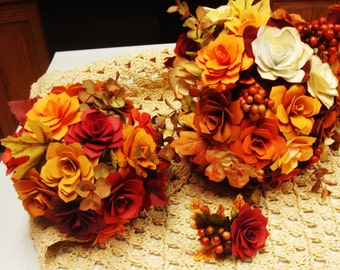 Paper Flower  Wedding Complete Wedding Package Make your own customized bouquets