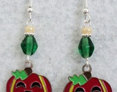 Pumpkin Earrings, Halloween Earrings, Halloween, Halloween Jewelry, Fall, Autumn, Fall Earrings,Autumn Earrings,Costume Jewelry