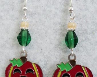 Pumpkin Earrings, Halloween Earrings, Halloween, Halloween Jewelry, Fall, Autumn, Fall Earrings,Autumn Earrings,Costume Jewelry