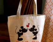 Disney Wedding tote bag, Disney bridal tote, Disney tote bag, personalized tote bag, wedding gift, bridal bag, personalized wedding