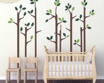Skinny Trees - Vinyl Wall Decals