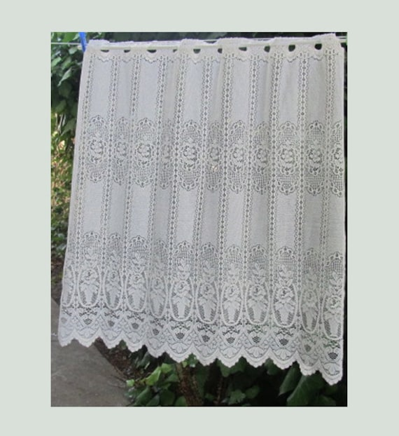 Lace kitchen curtain french lace window curtain white sheer curtains