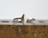 Primitive Rhombus Ring Made of Sterling Silver