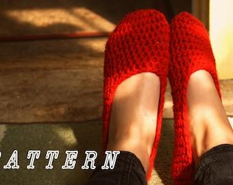 Crochet Pattern - Women's House Slippers.