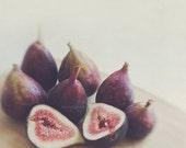 fig photo, food photography, still life, A Little Figgy, fruit plum purple kitchen decor, plum purple, dining room art, fall wall print