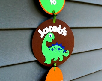 Dino door sign, party door sign, Personalized Dino Door sign, Welcome party sign,  Birthday Party decor, door sign, A533